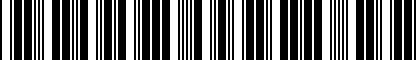 Barcode for 022327030