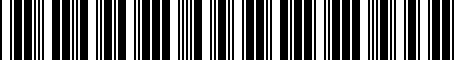 Barcode for 022327413A