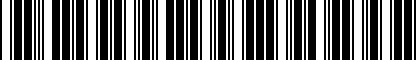 Barcode for 081017121