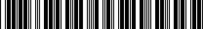 Barcode for M05327604