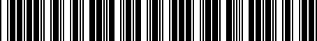 Barcode for MA0227150A