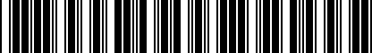 Barcode for MA0227158