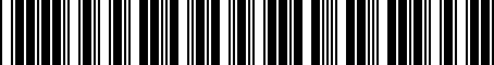 Barcode for MA0227600A
