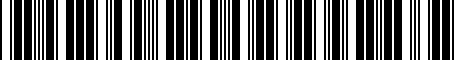 Barcode for NCY052110F