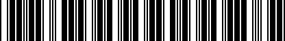Barcode for P01225123
