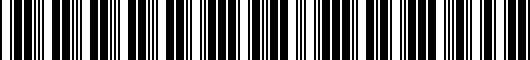 Barcode for 0000-8F-H13A