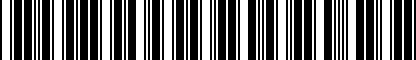 Barcode for BPE815150