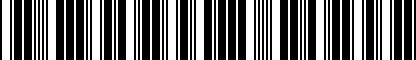 Barcode for GA2A43028