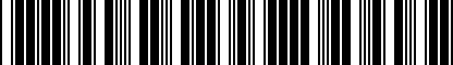 Barcode for M50417335