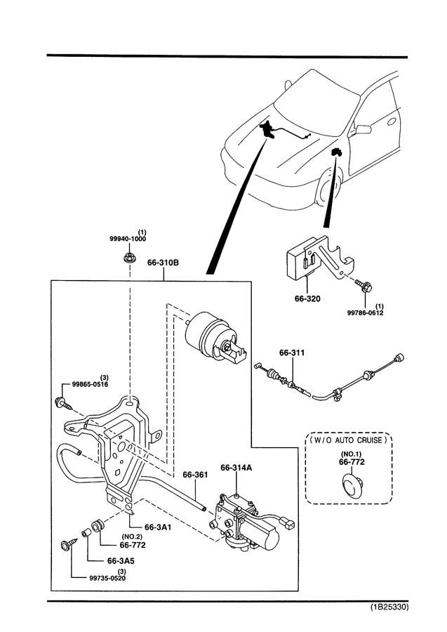 Mazda auto cruise control system