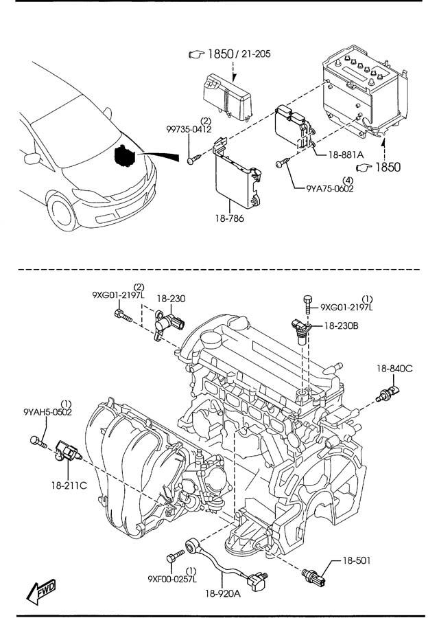 2009 Mazda Mazda 5 Module, pwt.cont - automatic ...