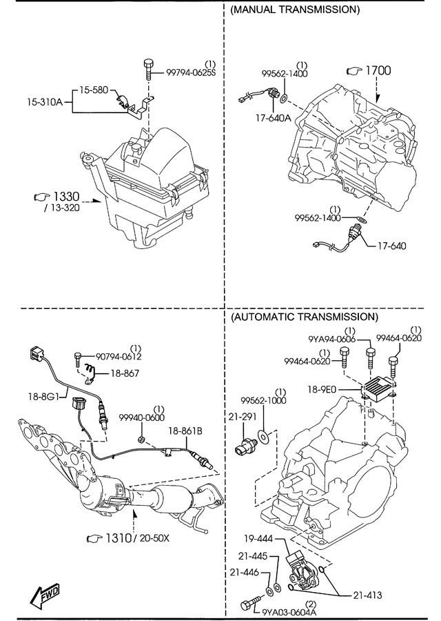 2008 Mazda Mazda 5 Oxygen Sensor - LF5G18861A   Jim Ellis ...