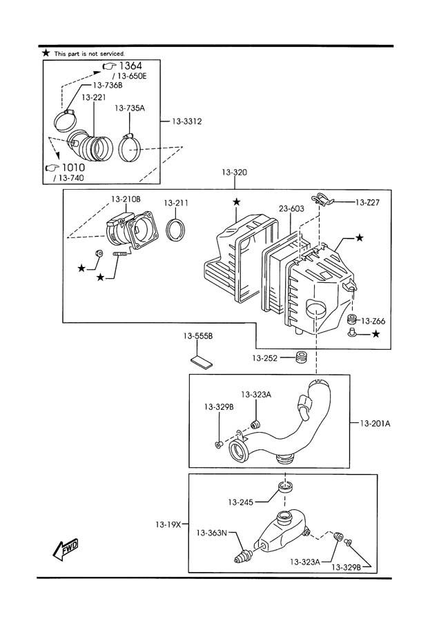 Mazda Tribute Sensor  Air Flow
