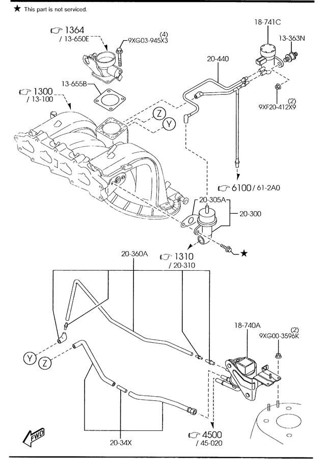 Mazda Tribute Tube  Vacuum