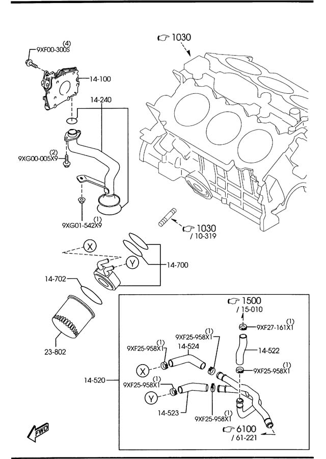 1997 mazda 626 engine diagram