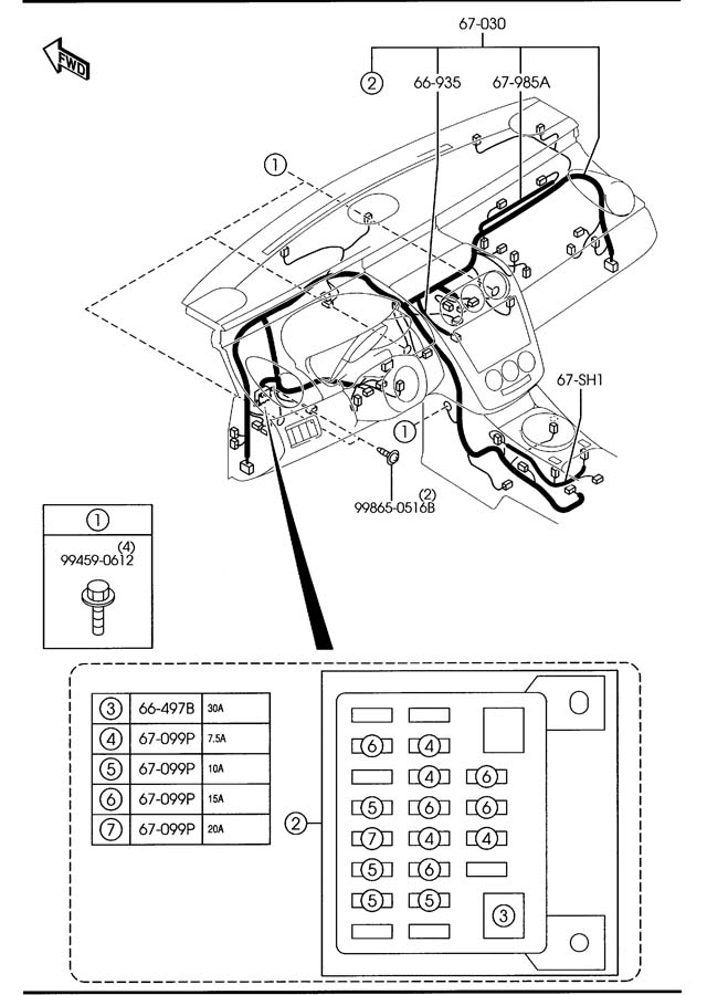 mazda b3000 parts diagram door