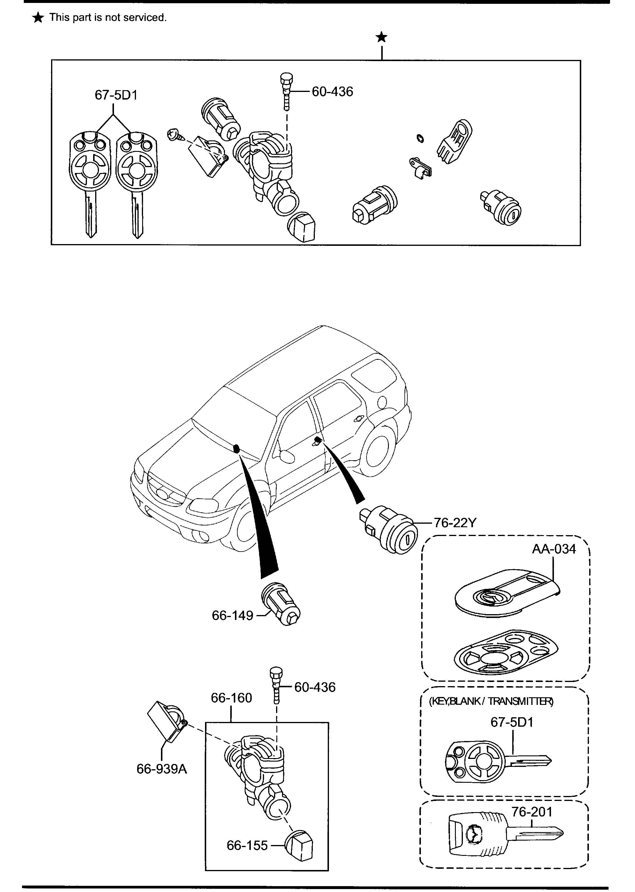 2008 Mazda Tribute Lock  Steering