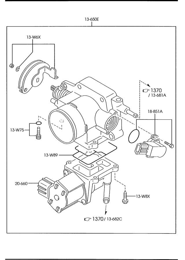Mazda 626 Valve  Idle Air  Throttle