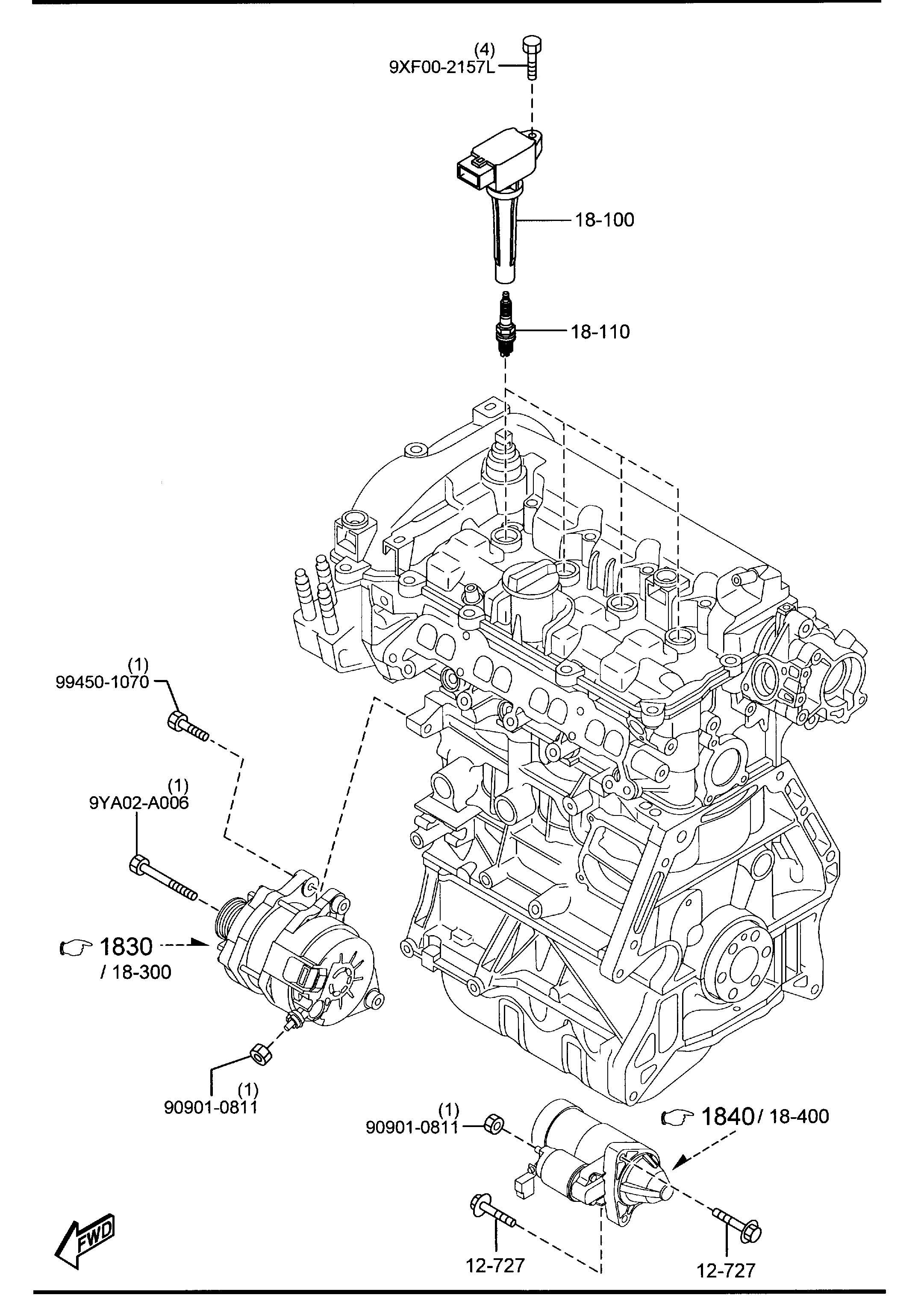 Engine Electrical System : Mazda engine electrical system