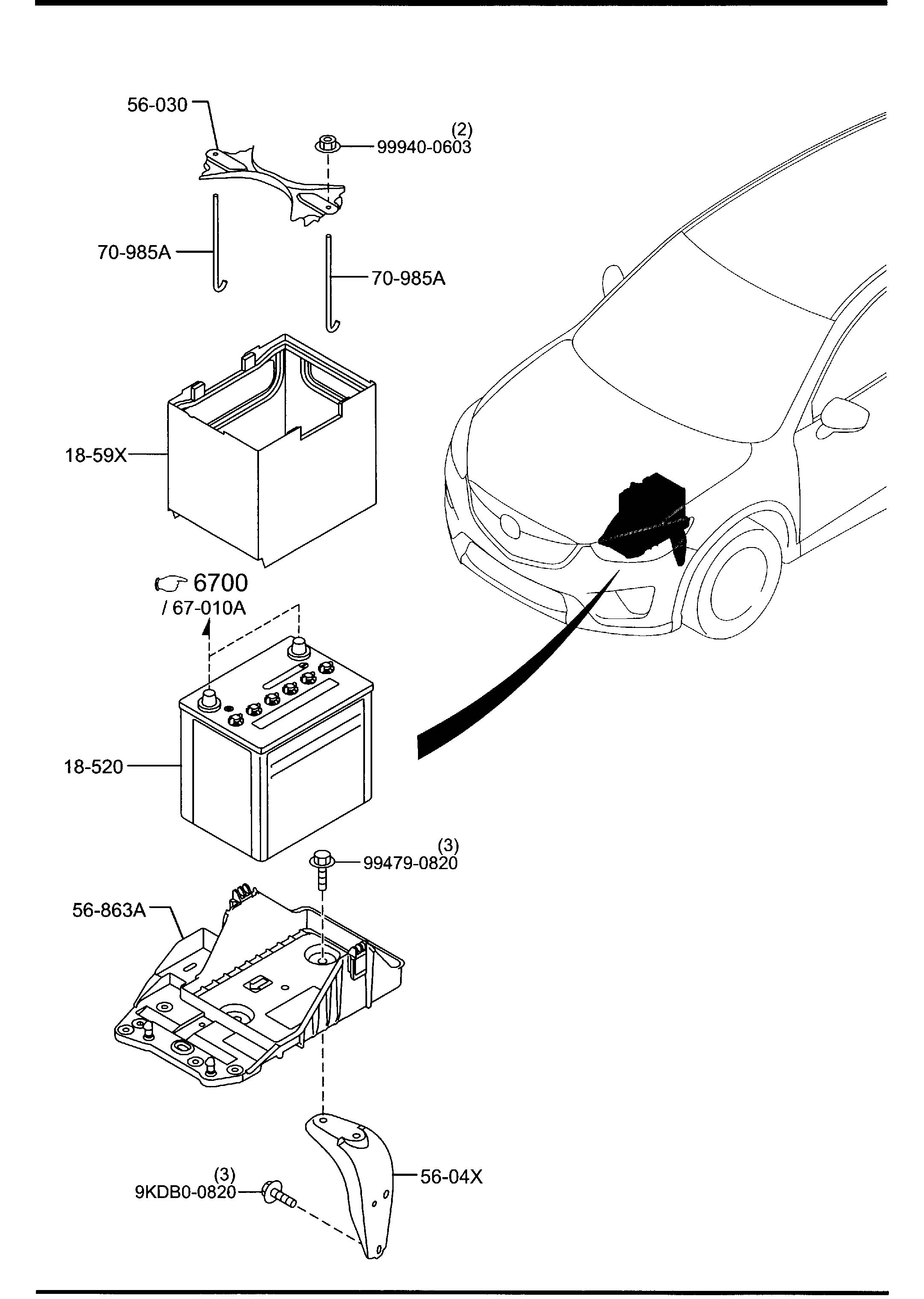 how to change battery in mazda cx 5