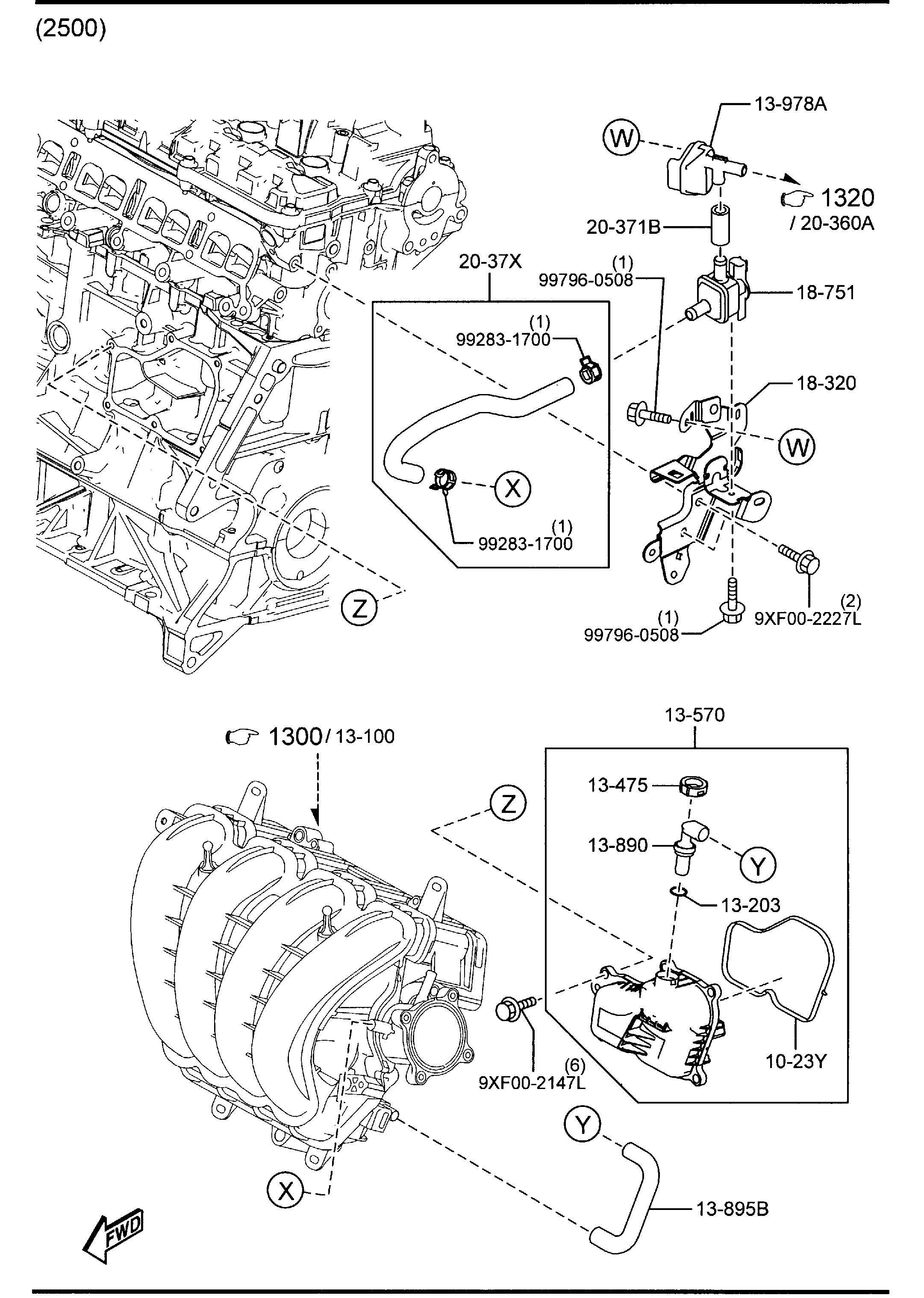 Mazda Cx-5 Valve  P C V  Pcv  Compartment
