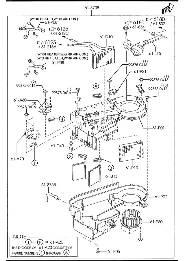 mazda mpv motor fan rear blower wrrheater. Black Bedroom Furniture Sets. Home Design Ideas