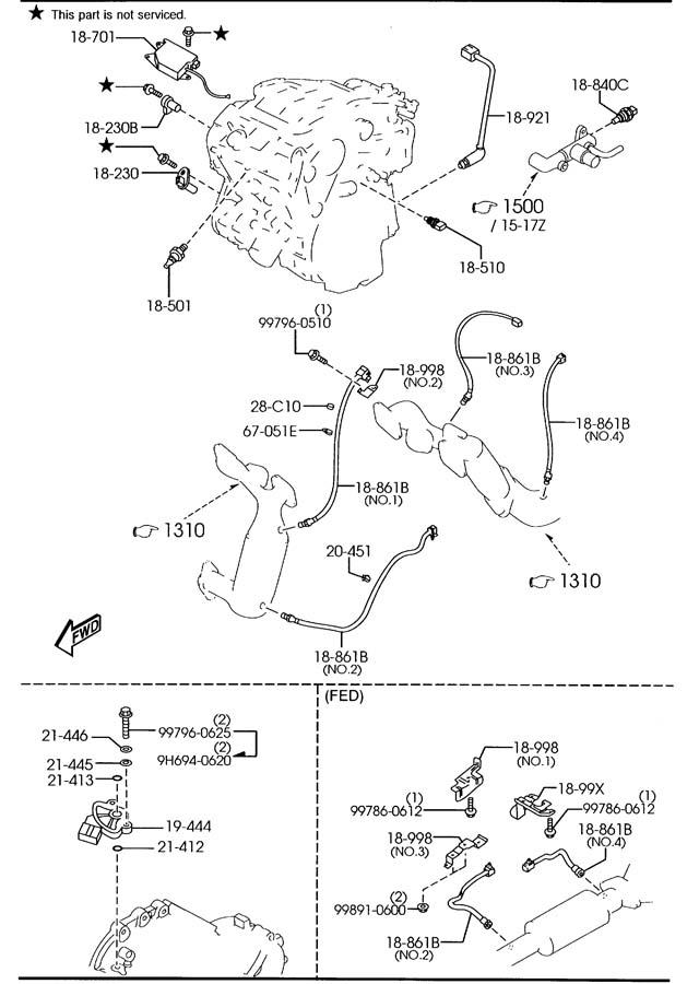 2001 Mazda Mpv Imrc Control  Actuator  Runner