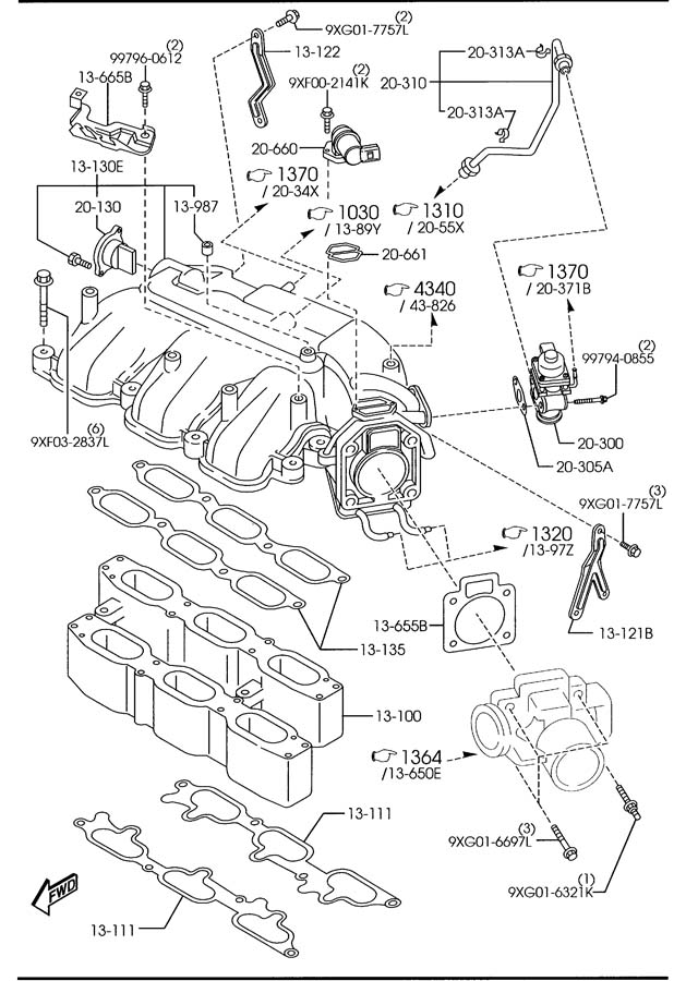 2005 Mazda Bypass Valve