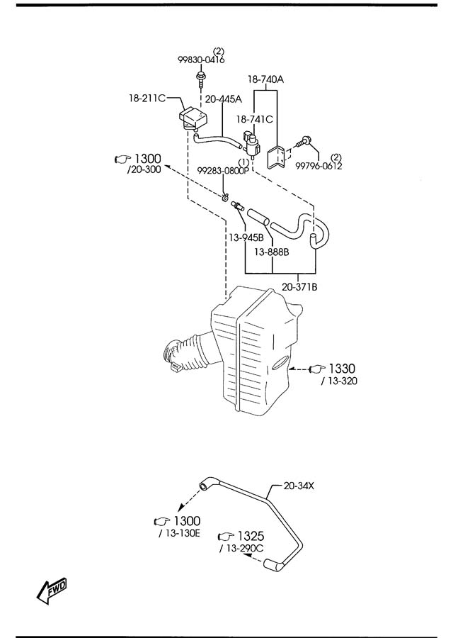 bp4y18741 mazda valve  solenoid without bracket