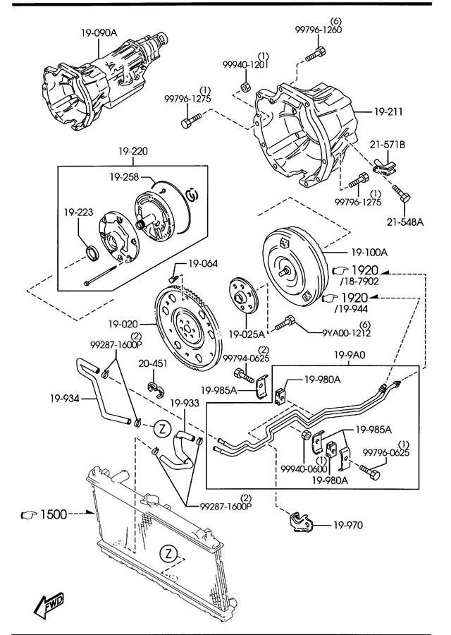 2001 Mazda Miata Transmission  Cpt
