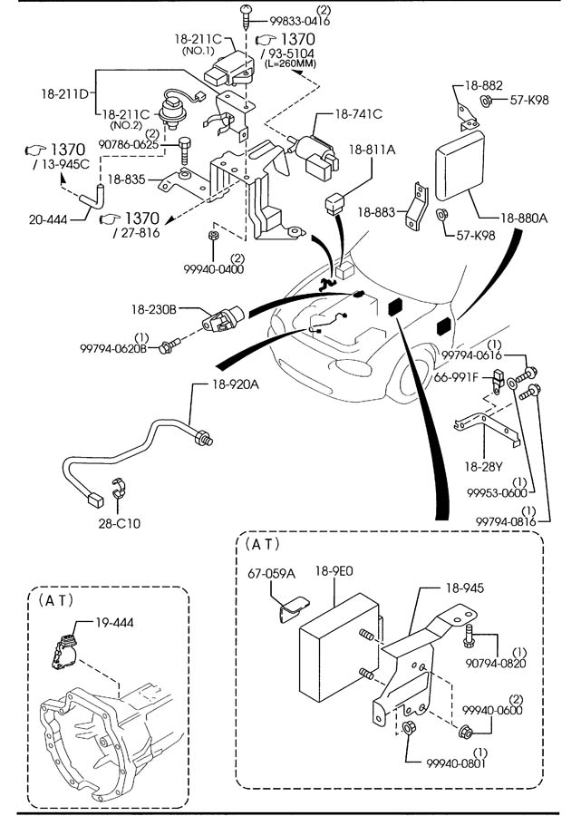2002 Mazda Miata Sensor  Angle  Crankshaft