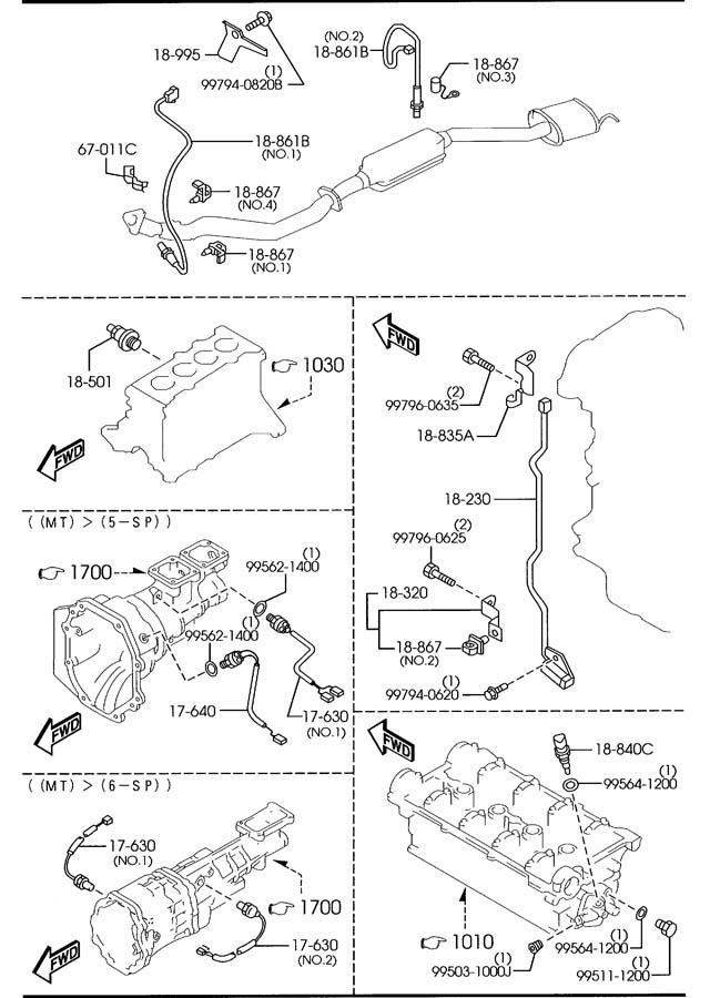 Mazda Miata Sensor  Oxygen  O2   Sensors