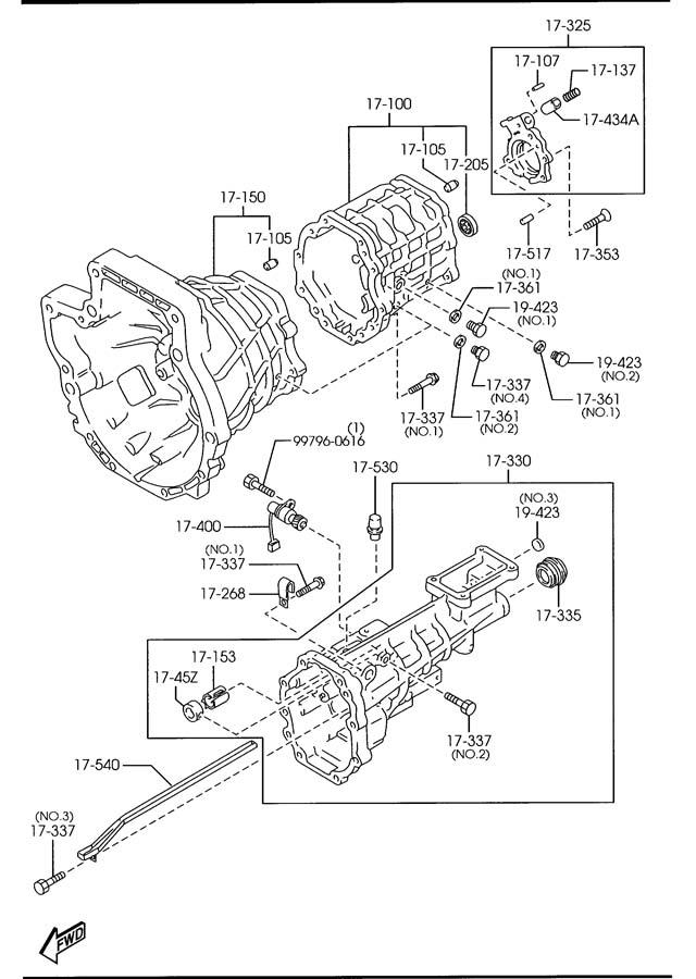 mazda miata manual transmission case 6 speed. Black Bedroom Furniture Sets. Home Design Ideas
