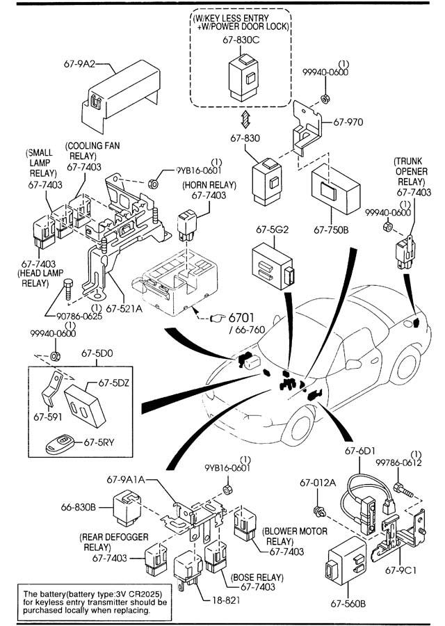 Mazda Miata Relay Fuel Pump Opening Circuit B5b418821