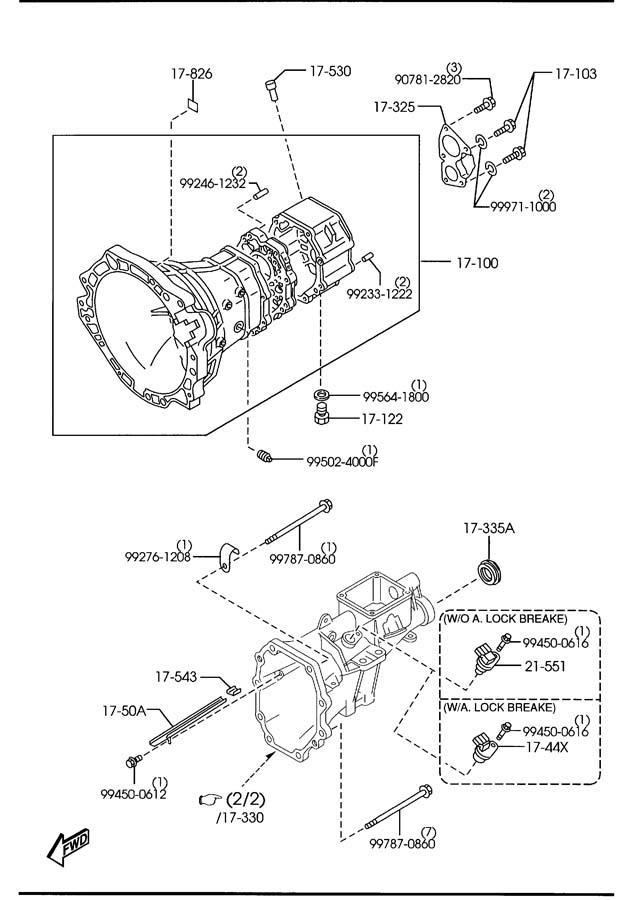2008 mazda 3 manual transmission case 5 speed. Black Bedroom Furniture Sets. Home Design Ideas