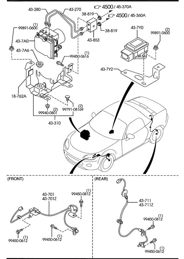 Nf494372ya - Mazda Sensor Left  L   Rear  Rr