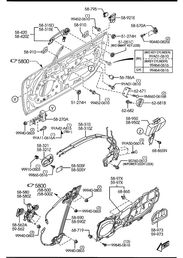 1995 mazda miata wiring diagram and exploded view