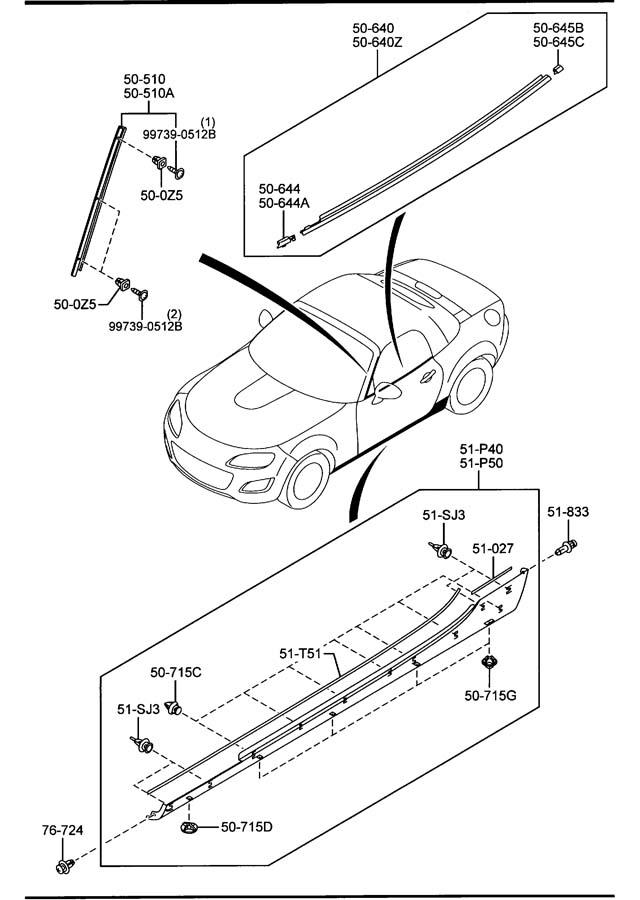 Mazda Miata Protector  U0026 39 B  U0026 39  Left  L   Beltline