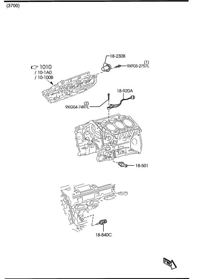 2008 Mazda Cx-9 Module  Pwt Cont