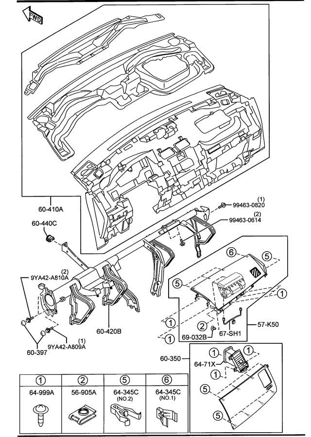Mazda Cx-9 Damper  Glove Box