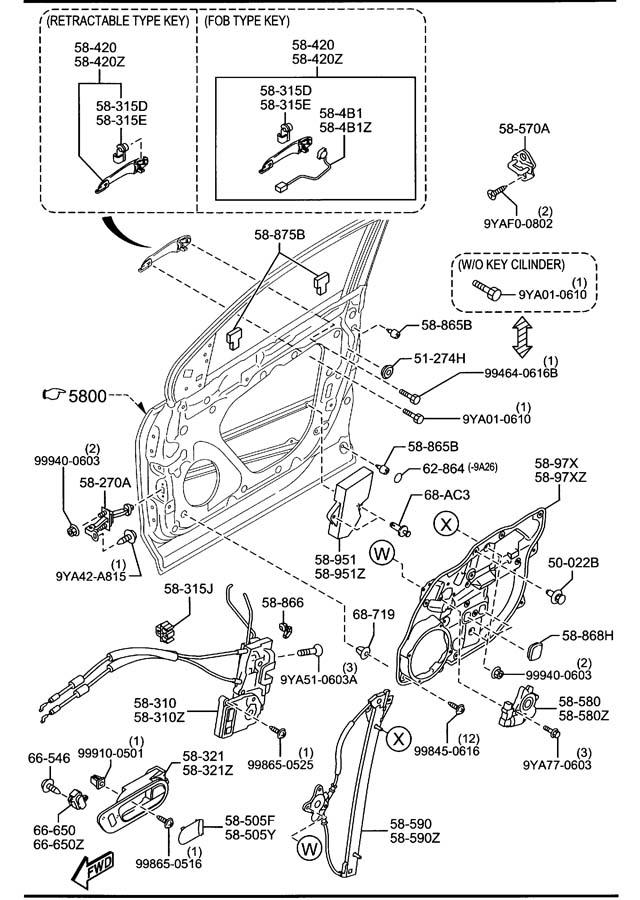 Mazda Cx-9 Sw Left  L   Keyless