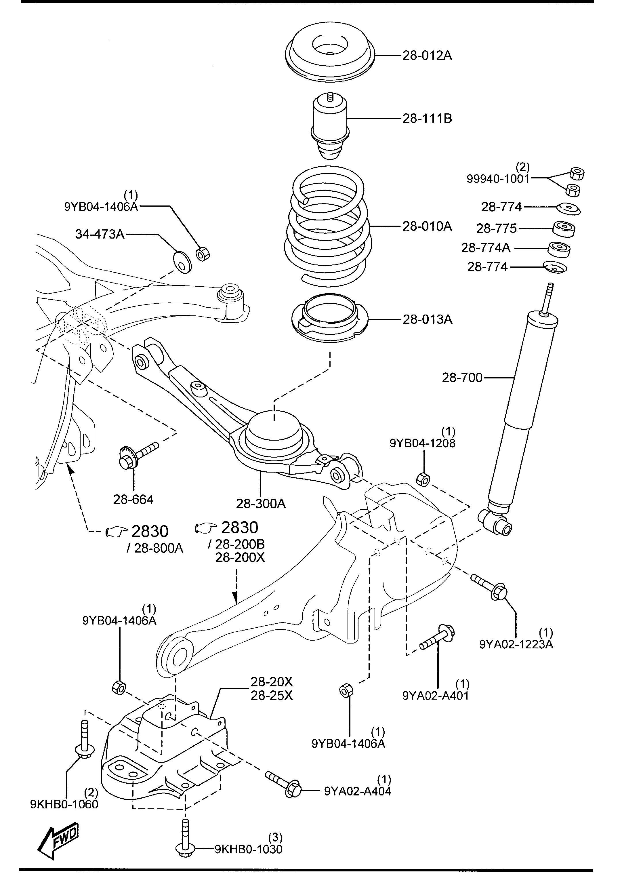 Mazda Cx-9 Stopper  Bump  Wawd  Shocks