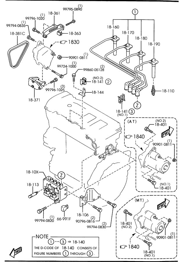 Engine Electrical System : Mazda engine electrical system cc