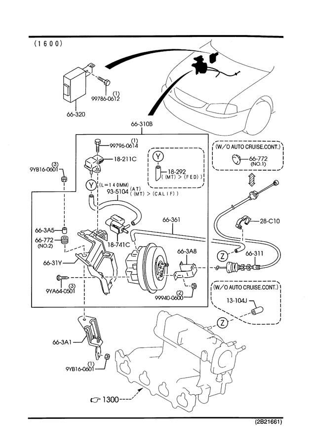Mazda protege auto cruise control system