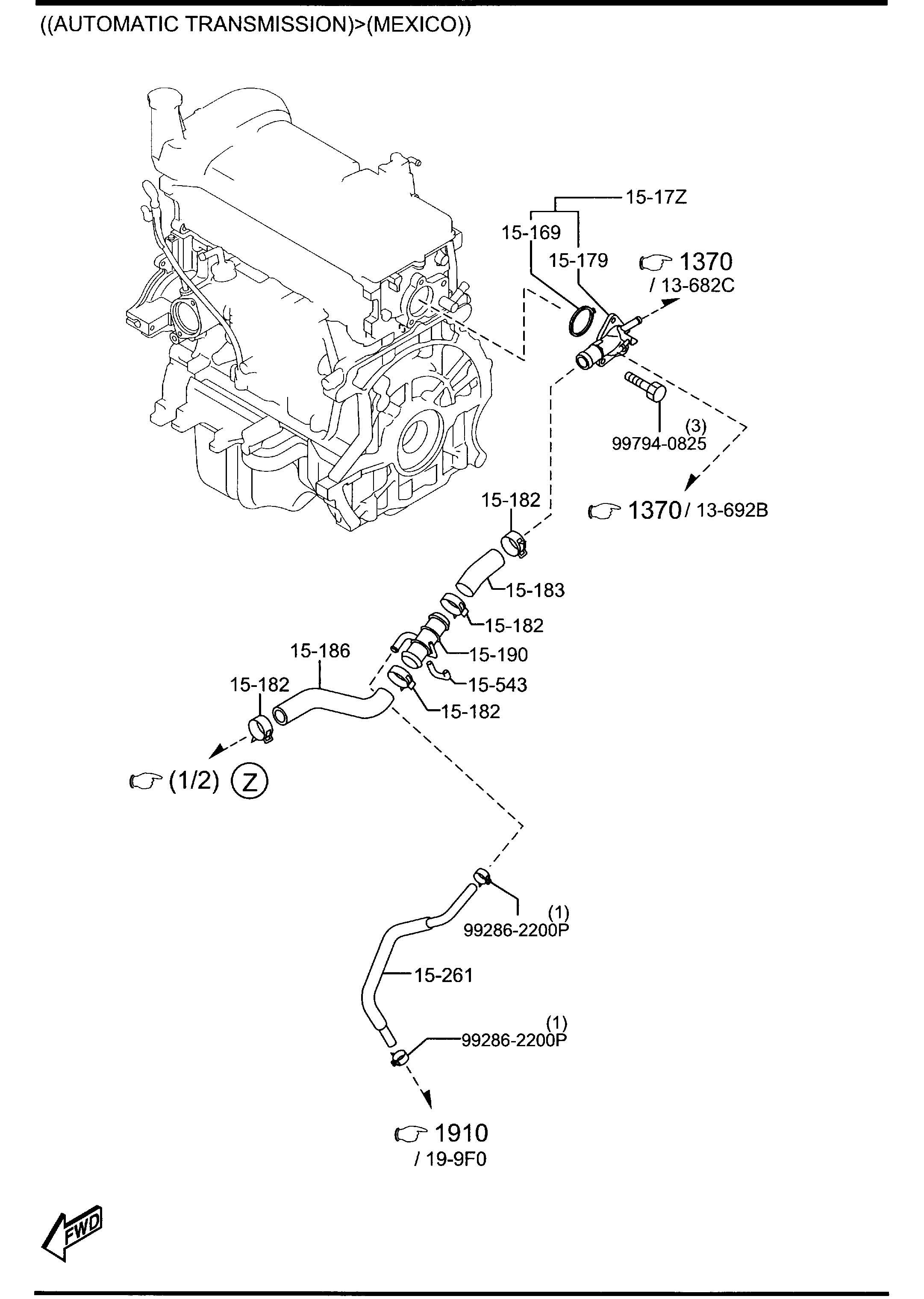 2012 Mazda Thermostat  W  Gasket    Wgasket