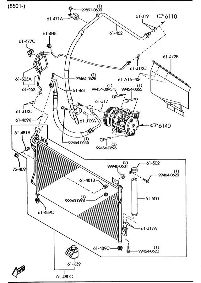 Mazda Cx-7 Switch  Pressure