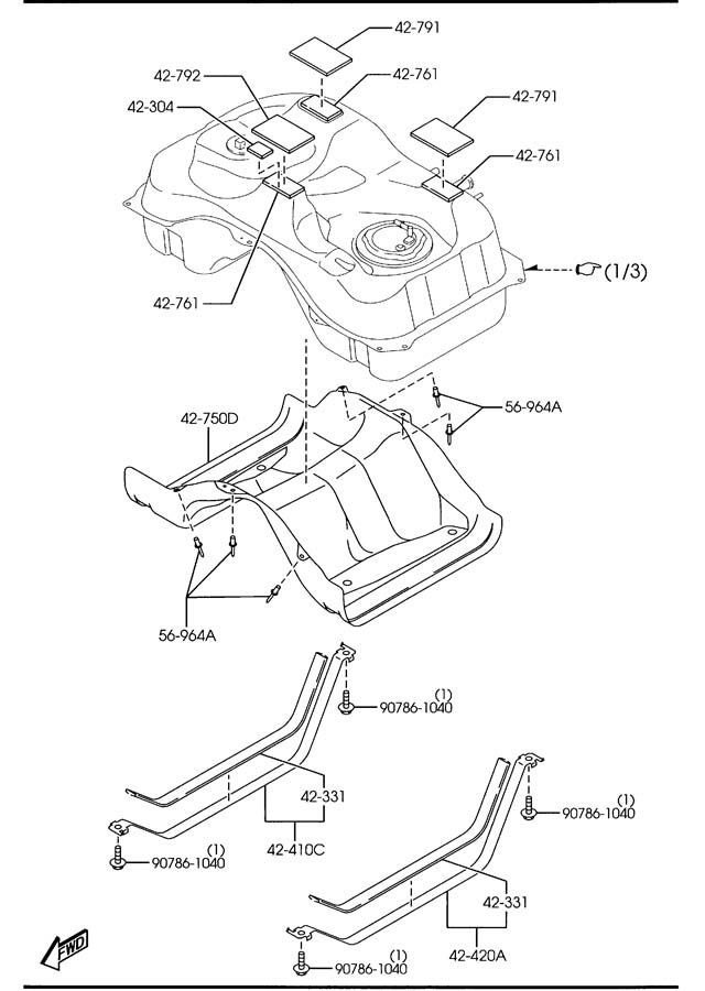 AJ5118581A  Mazda Sensor     fuel    leakage Federalcanada  exctaiwan  california   Jim Ellis Mazda