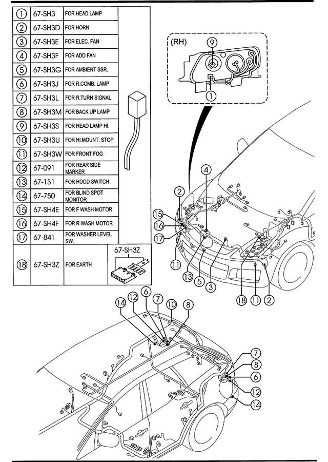 Mazda Cx-7 Block  Main Fuse  Level