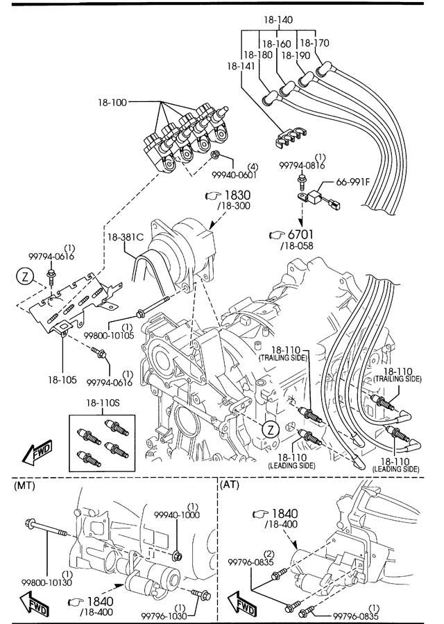 Mazda Rx-8 Spark Plug  Leading  Ngk  Plugs