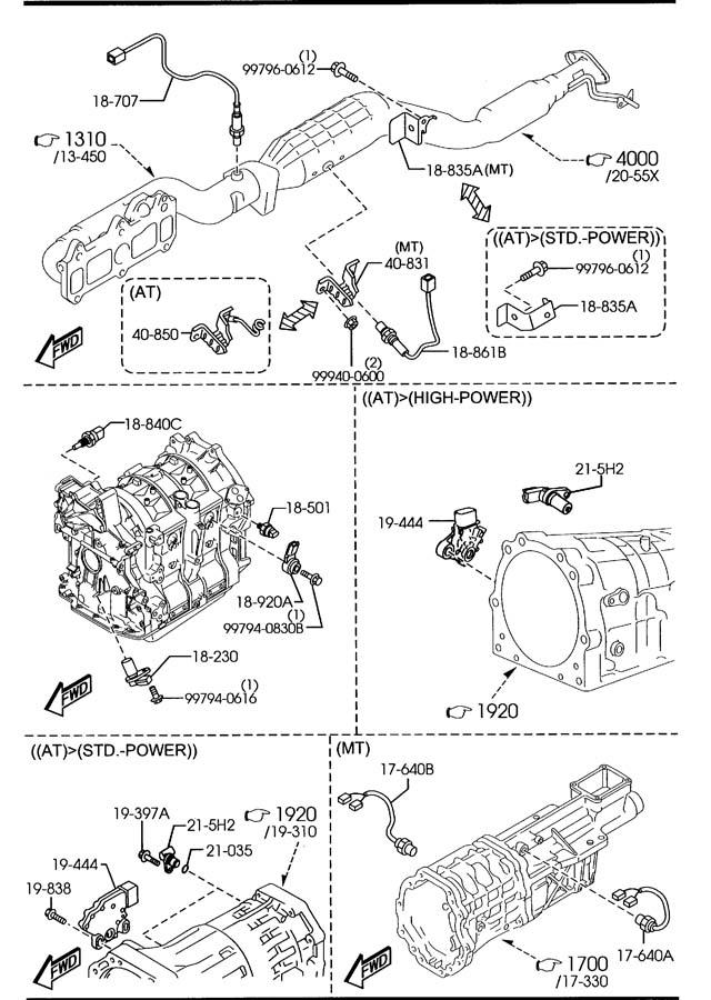 2004 Mazda RX-8 Sensor, oxygen (o2). Sensors ...